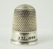 1910 Antique Sterling Silver Sewing Thimble 6