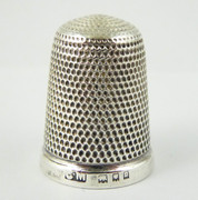 1918 Antique Sterling Silver Sewing Thimble