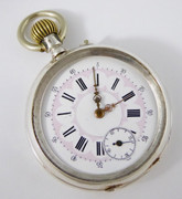 Antique .800 Silver German  Mechanical Pocket Watch for Parts  Steampunk