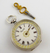 Fancy Antique 1876 Hallmarked Sterling Silver Kay & Co Pocket Watch Not Working