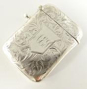 Antique Hallmarked 1902 Solid Sterling Silver Vesta Monogrammed AEY $160