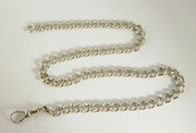 Antique Hallmarked Sterling Silver Pocket Watch Chain 42cm Long