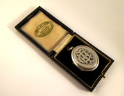 Antique Silver Photo Locket Pendant in the Original Box