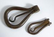 2 Antique 1800s Folding Button Hooks