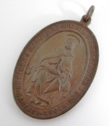 Religious Medallion  Maternity Nursing Association Medal Myddelton Square Founded 1896