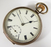 Antique Hallmarked 1912 Sterling Silver English Lever Pocket Watch