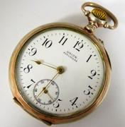 Antique Union Horlogere .800 Silver German  Mechanical Pocket Watch