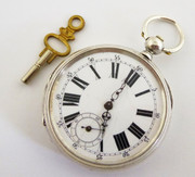 Antique Late 1800s Early 1900s Fine Silver  Pocket Watch