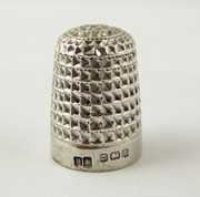 Antique 1906 Hallmarked Sterling Silver Sewing Thimble
