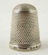Antique 1901 Sterling Silver Sewing Thimble 18 Henry Griffith & Sons