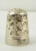 Antique Silver Sewing Thimble Dorcas 10 Charles Horner Plated ?