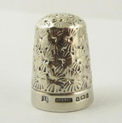 1904 Antique Sterling Silver Sewing Thimble 16  Henry Griffith & Sons