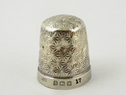 1925 Antique Sterling Silver Sewing Thimble 17  Henry Griffith & Sons
