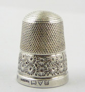 1911 Antique Sterling Silver Sewing Thimble 16 Henry Griffith & Sons