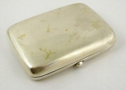 Antique 1910 Solid Sterling Silver Cigarette Case Fits a Credit Card