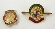 Pair of Vintage Enamel Badges Health and Strength League & Beds CWBA