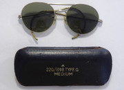 WW2 Fighter Bomber Pilots Air Force Sunglasses 22G/1398 Type G  in Original Case