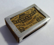 Antique Sterling Silver 1909 Matchbox with Matchbox