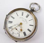 Antique J G Graves Sheffield Swiss Silver Pocket Watch Key Wound Mechanical