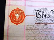 Antique 1904 Leather Legal Vellum 141 Lutterworth Road Northhampton