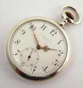 Antique Silver Pocket Watch Crown Wind Mechanical Needs Work