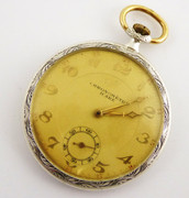 Early Solid Silver 1900s Antique Mechanical Pocket Watch Chronometre Icare Needs Work