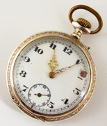 Antique  1900s  German .800 Silver & Gold Pocket Watch   Needs  Work