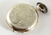 Antique  1900s  German Art Nouveau  .800 Silver & Gold Pocket Watch   Needs  Work