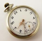 Antique  1900s Art Deco Pocket Watch Exact Remontoir    Needs  Work