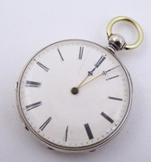 Interesting Late 1800s  Antique Fine Slim Pocket Watch with Key Wound Movement Not Running