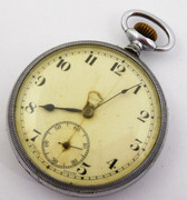 Antique Swiss Art Deco  Mechanical  Nickle Cased Pocket Watch