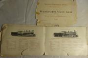 Baldwin Locomotive Works Walschaerts Valve Gear Construction Record No 55 1906