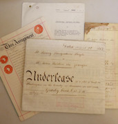 1883 - 1949 Antique Leather Vellum Parchments with Wax Seals Holden of Rawtenstall Lancaster