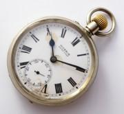 Antique Queensland Railway Pocket Watch Moeris QR 12207AX