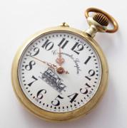 Antique late 1800s  Steam Train Railway Pocket Watch Cronometro Simplon EKB Pocket watch
