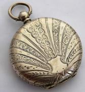 Antique  Late 1800s Swiss Hallmarked Fancy Gold  Enamel  Dial Pocket Watch