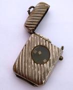 Antique Art Deco 1900s  Vesta with Built in Dice Gamble Game
