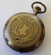 Antique  1800s  German Art Nouveau  .800 Silver & Gold Pocket Watch