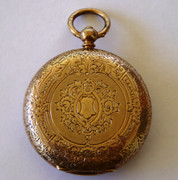 Antique Gold Gilt Solid Sterling Silver 1882 Fancy Hallmarked John Bennett Pocket Watch