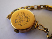 Antique Art Deco 1920s  9ct Gold Ladies Swiss Wrist Watch on Bracelet