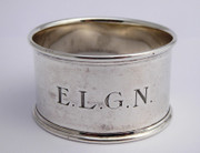 Antique 1936 Hallmarked Sterling Silver Napkin Ring ELGN by Suckling Ltd