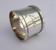 Antique 1884 Hallmarked Sterling Silver Napkin Ring Lottie by George Unite