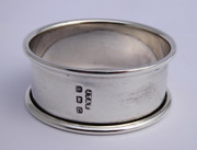 Art Deco 1927 Hallmarked Sterling Silver Napkin Ring by John Thompson & Sons