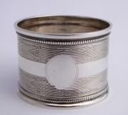 Antique Hallmarked Sterling Silver Napkin Ring by Robert Pringle
