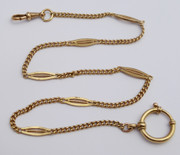 Antique Late 1800s Fancy Gold Plated Pocket Watch Chain