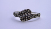 Vintage 1950s 60s  Marcasite  925 Sterling Silver Ring (Needs Work)