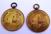 Pair of  Medallions Amateur Gardening For Merit in Horticulture