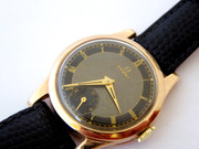 Stunning Art Deco 1939 Gold 9ct Omega Black Dialed WW2 Era