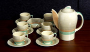 Art Deco 1930s  Susie Cooper Wedding Ring Pattern Crown Works Coffee Set