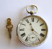 Antique 1885 Hallmarked Sterling Silver Pocket Watch Waltham (Needs Work)